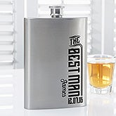 Personalized Groomsman Wedding Flask - I Do Crew - 15768