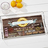 Personalized Acrylic Serving Tray - Summer Rules - 15775