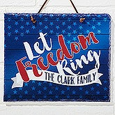 Personalized American Slate Plaque - Land Of The Free - 15776