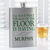 Irish Quotes Personalized Flask