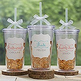 Personalized On The Go Acrylic Insulated Tumbler - Bridesmaid - 15785