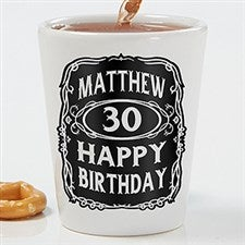 Personalized Birthday Shot Glass - Whiskey Label - 15786