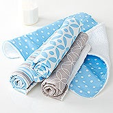Trendy Baby Boy Burp Cloth Set - 15790