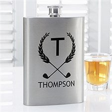Personalized Premium Pocket Flask - Golf Pro - 15798