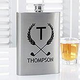 Personalized Premium Pocket Flask - Golf Pro - 15798