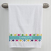 Personalized Bath Towel - Geometric - 15813