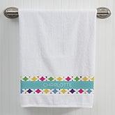 Personalized Bath Towel - Geometric - 15813