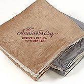 Personalized Sherpa Fleece Blanket - Everlasting Love - 15814