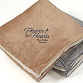 Embroidered Memorial Sherpa Blanket - Heartfelt Memories - 15827