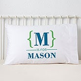 Personalized Kids Pillowcase - Name Bracket - 15831