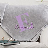 Personalized Sweatshirt Blanket - Alphabet Fun - 15835