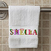 Personalized Hand Towel - Alphabet Animals - 15836