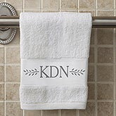 Personalized Monogram Hand Towel - Meadow Monogram - 15837