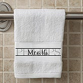 Personalized Wedding Hand Towel Set Of 2 - Wedded Pair - 15839