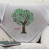 Personalized Sweatshirt Family Blanket - Tree Of Words - 15841