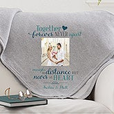 Personalized Military Sweatshirt Blanket - Together Forever - 15846