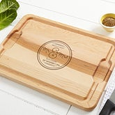 Personalized Maple Cutting Board - Circle Of Love - 15849