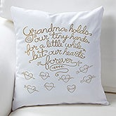 Personalized Grandparents Throw Pillow - Grandchildren Fill Our Hearts - 15854