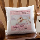 Personalized Keepsake Baby Pillow - Darling Baby Girl - 15855