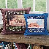 Personalized Keepsake Baby Pillow - Darling Baby Boy - 15856
