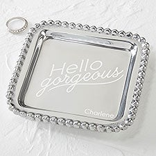 Mariposa Personalized Jewelry Tray - String of Pearls - 15861