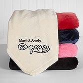 Personalized Anniversary Fleece Blanket - Years In Love - 15870
