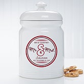 Personalized Wedding Cookie Jar - Circle Of Love - 15871