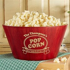 Personalized Bamboo Popcorn Bowls - Popcorn Night - 15898