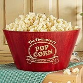 Personalized Bamboo Pocorn Bowl - Popcorn Night - 15898