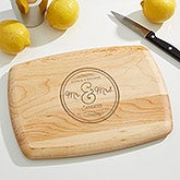 Personalized Bar Cutting Board - Circle of Love - 15913