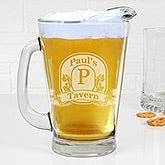 Personalized Deep Etch Beer Pitcher - Vintage Bar Sign - 15924
