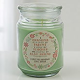Personalized Scented Candle Jar - My Grandma, My Friend - 15938