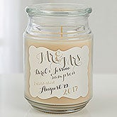 Mr and Mrs Personalized Wedding Candle Jar  - 15939