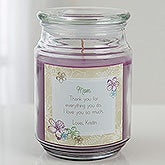 Personalized Scented Glass Candle Jar - For Her - 15940