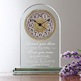 Personalized Wedding and Anniversary Clock - I Love You - 15952
