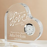 Engraved Heart Clock - The Ones We Love - 15954