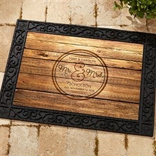 Personalized Wedding Doormat - Circle Of Love - 15962