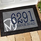 Personalized Family Doormat - Initial Stamped Address - 15967