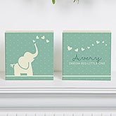 Personalized Baby Nursery Shelf Blocks Set Of 2 - Baby Zoo Animals - 15972