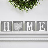 State of Love Personalized Home Sign - Square Block Set - 15974