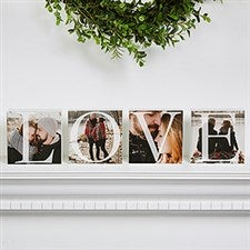 Personalized Love Photo Shelf Blocks Set - 15975
