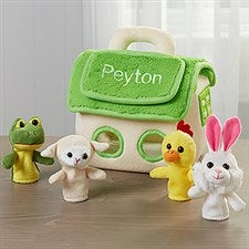 Personalized Finger Puppet Friend's Playhouse - 15982
