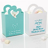 Wedding & Bridal Shower Personalized Mini Tote Favor Boxes - 15988