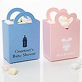 Personalized New Baby Favor Boxes - Mini Totes - 15989