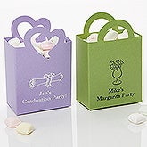 Party Time Personalized Mini Tote Favor Boxes - 15990