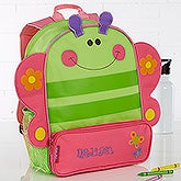 Embroidered Girls Butterfly Sidekick Backpack - 15995