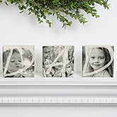 Personalized Photo Shelf Blocks Set Of 3 - DAD - 15997