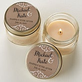 Personalized Rustic Wedding Mason Jar Candle Favors - 15999