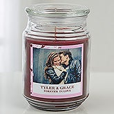 Personalized Photo Scented Glass Candle Jar - Sweethearts - 16002