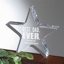 Personalized Father Award - Best Dad Ever Acrylic Star Keepsake - 16020